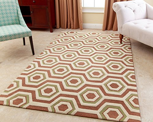 Abbyson Hand-Tufted Thalles New Zealand Wool Rug, Tawney Brown