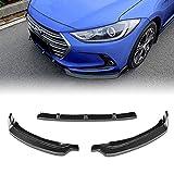 Stay Tuned Performance PU/679/PCF Carbon Fiber Print Front Bumper Body Kit Lip 3PCS Compaitble with 2017-2018 Elantra