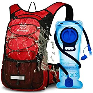Mothybot Hydration Pack, Insulated Hydration Backpack with 2L BPA Free Water Bladder and Storage, Hiking Backpack for Men,...
