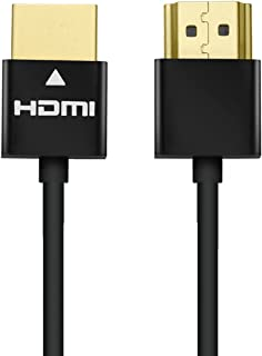 PERLESMITH Ultra Slim HDMI Cable - High Speed and Flexible - 10 feet 1 Pack with Ethernet, Audio Return - 1080p - for HD TV, DVD Blu-ray Players, Xbox