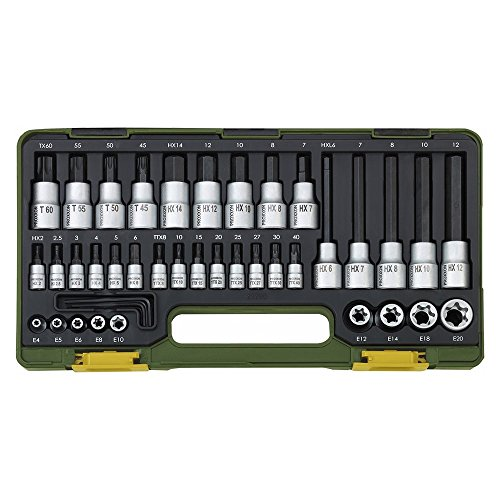 Proxxon 23290 Spezialsatz für TX- und Innensechskantschrauben, 42-teilig.