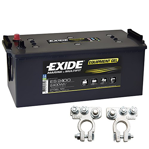 Exide Equipment Gel Batterie ES 2400 12V 210Ah G210 inkl. Polklemmen Boot Solar Wohnmobil