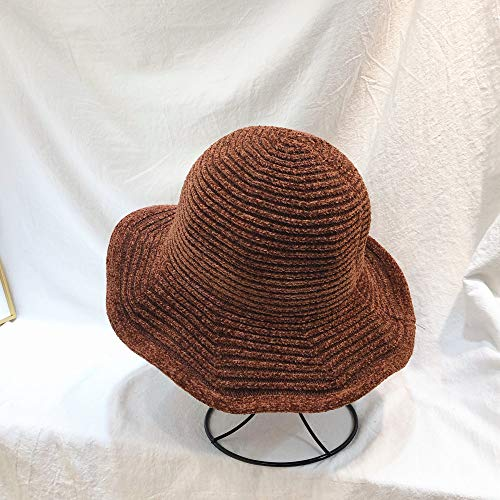 sdssup Otoño e Invierno Chenille Sombrero de Pescador Invierno Grueso cálido Armario...
