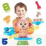 Fansteck Balanza Juguete niños, Juego Montessori de Números Aprendizaje...