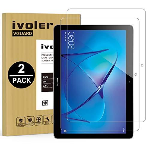 ivoler [2 Unidades] Protector de Pantalla para Huawei Mediapad T3 10, Cristal Vidrio Templado Premium