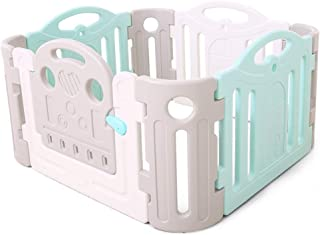 Playpen Baby Safety Fence Activity Center for Babies and Kids - Multicolor 8 Panel (3- Panel 1 Gates Plus 4 Corner) Set Pl...