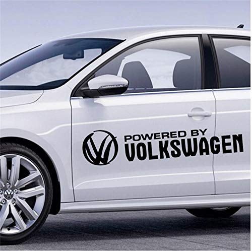 GVFTG Powered By Volkswagen patroon vinyl muurkunst sticker zwart DIY wooncultuur auto sticker 30x7cm