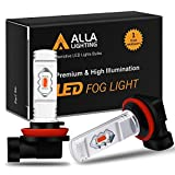 Alla Lighting 3800lm H11 H16 Red LED Fog Lights Bulbs ETI 56-SMD Xtreme Super Bright H8 H11 H16 LED Bulbs Replacement for Cars, Trucks, SUVs, Vans