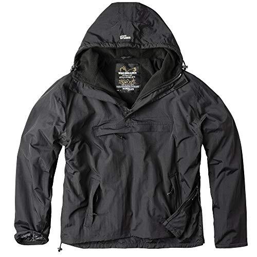 Surplus Herren Windbreaker Outdoor Jacke, schwarz, L