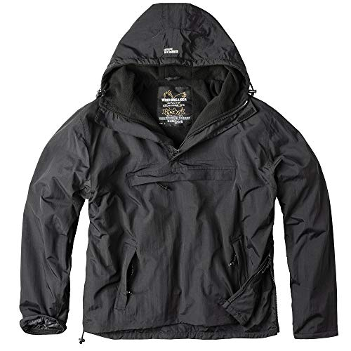 Surplus Herren Windbreaker Outdoor Jacke, schwarz, L