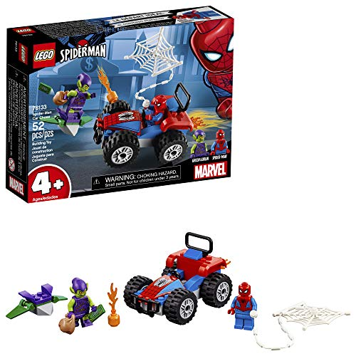 LEGO Marvel Spider-Man Car Chase 76133 Building Kit, Green Goblin and Spider Man Superhero Car Toy Chase (52 Pieces) (Discontinued by Manufacturer)