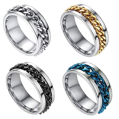 QYY Edelstahl Flaschenöffner Ring, Bieröffner Ring, Flaschenöffner Ring, 4 Farben Flaschenöffner-Ring mit 19/20/21/22mm Innen-Durchmesser