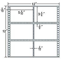 東洋印刷 タックフォームラベル 12インチ ×12インチ 6面付(1ケース500折) M12Y