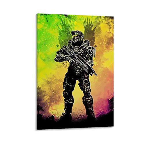 BUGUAN Halo Master Chief Collection - Póster decorativo de lienzo para pared, sala de estar, póster, dormitorio, 30 x 45 cm