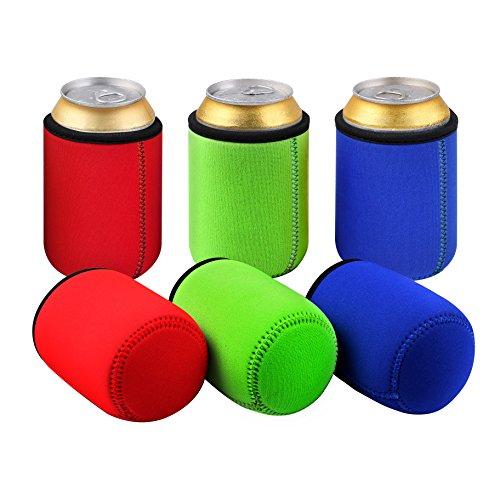 Tagvo Dosenkühler 6 in Packung ( 2 Rot X 2 Grün X 2 Blau ) Bier Flaschenkühler für 0.33L Dosen