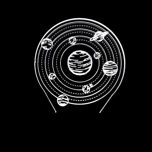 LG Snow lámparas Galaxy LED Colorido Gradiente 3D Estéreo Lámpara De Mesa Táctil Control Remoto USB Luz De Noche Escritorio Mesita De Noche Decoración Creativa Adornos De Regalo