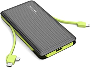 Portable Charger 10000mAh External Battery Pack High-Speed Smart Charger Power Bank Quick Charge Portable Charger 3 Output Ports Compatible with iPhone iPad Samsung, etc