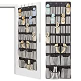 ASKITO Over The Door Shoe Organizer,27 + 4 Large Mesh Pockets Hanging Shoe Storage,Upgraded Oxford Fabric Black (1 PACK)