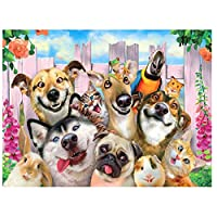 DIY 数字 油絵 塗り絵 キット 大人 子ども 塗り絵 庭の動物の犬 デジタル油絵 手塗り 数字キットによる絵画 絵かき インテリア 壁飾り ホームデコレーション 40x50cm(額縁なし)