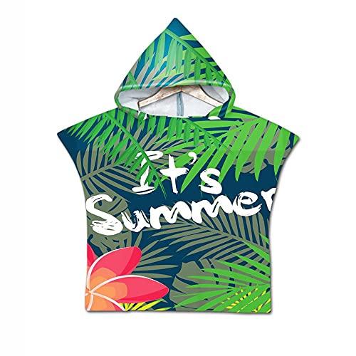 Aeromdale Toalla de playa con capucha para cambiar el tema del verano del niño surf traje de natación Raincap con capucha de un tamaño toalla de viaje unisex parte D - # C - 1 pieza