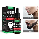 Beard Growth Oil, Natural Organic Hair Growth Oil Beard Oil...