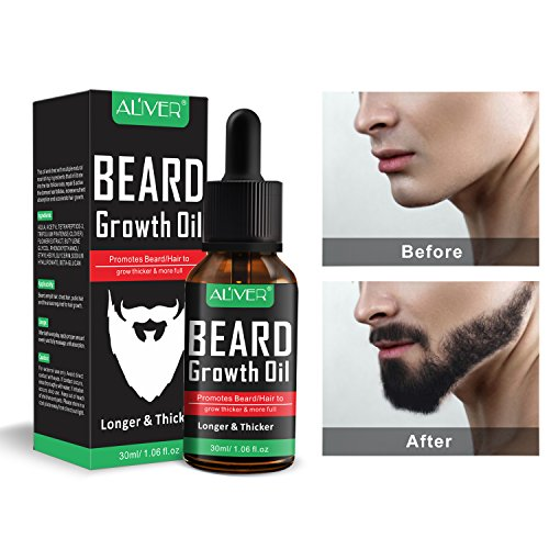 Beard Growth Oil, Natural Organic Hair Growth Oil...
