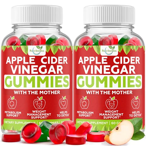 (2-Pack) Apple Cider Vinegar Gummies with The Mother for...
