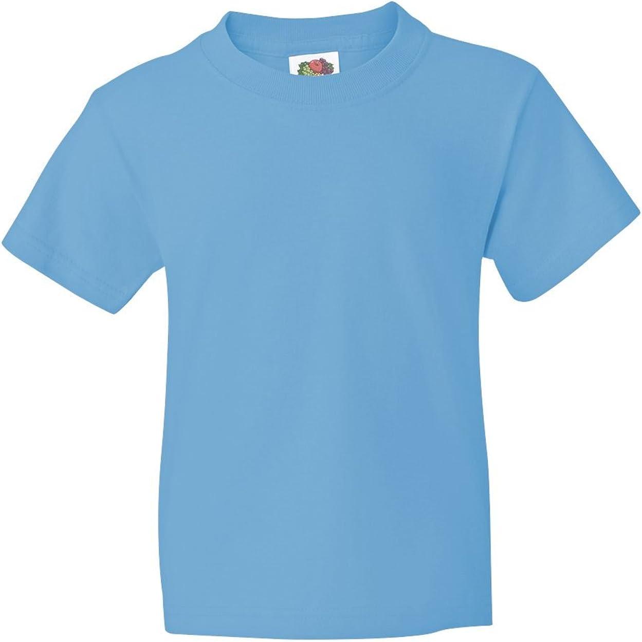 Fruit of the Loom Youth 5 oz., 100% Heavy Cotton HD T-Shirt (3931B) AQUATIC BLUE