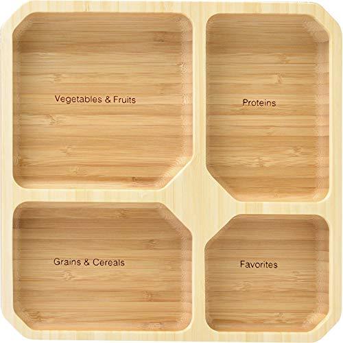 健康プレート(スクエア型) 仕切り皿、ランチプレート、仕切りプレート皿