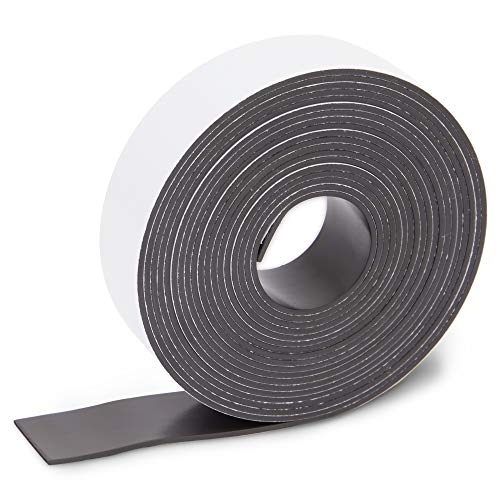 Magnetic Tape Roll with Adhesive Backing (1 Inch x 100 Feet, 1 Pack)