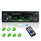 Aigoss Autoradio Bluetooth FM Radio Stéréo 60W x 4, Lecteur MP3 Poste Main Libre Voiture, Support USB/SD/TF/AUX +...