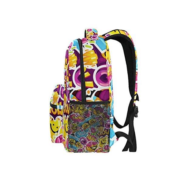 51kKG3aAhhL. SS600  - Mochila Escolar con diseño de Emoji de Gran Capacidad, Mochila de Viaje Casual, Mujeres, Hombres, niñas y niños