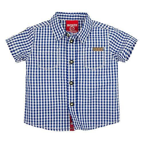 BONDI Trachtenhemd Kurzarm, karo Blue/Weiss 68 Tracht Baby Jungs Artikel-Nr.91125