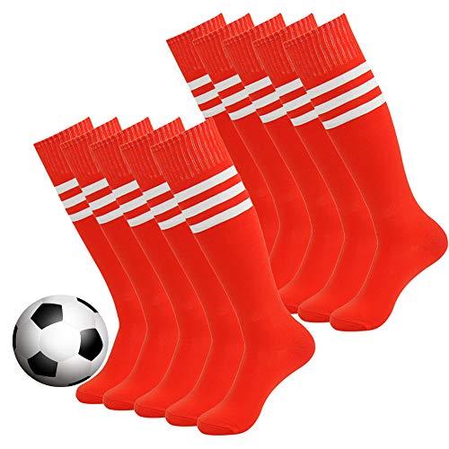 JIBIL Knee High Cushioned Football Volleyball Baseball Sports Tube Socks,1 Pair Soccer Socks for Youth Adult