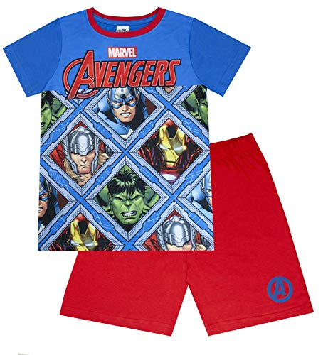 Marvel Avengers Panels Blau Rot Jungen Short-Pyjamas
