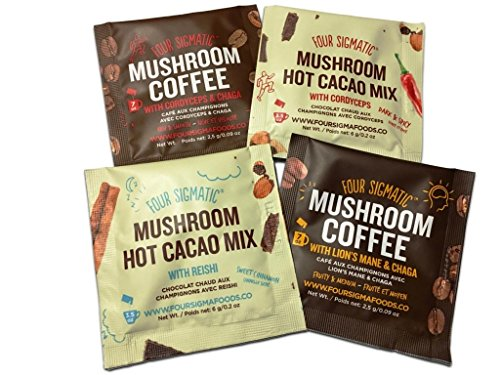 Four Sigmatic Probierpack Mushroom Coffee/Chocolate (4 Stck.)