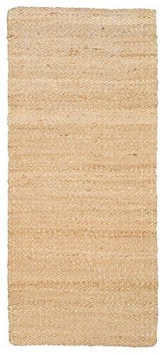 Jute Naturfaser-Juteteppich, Handgewebt 60 x 140 cm