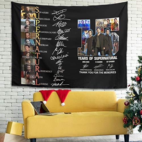 Ballbollbll Familia 15 años de tapices coloridos para colgar en la pared para dormitorio, sala de estar, color blanco 59 x 59 pulgadas