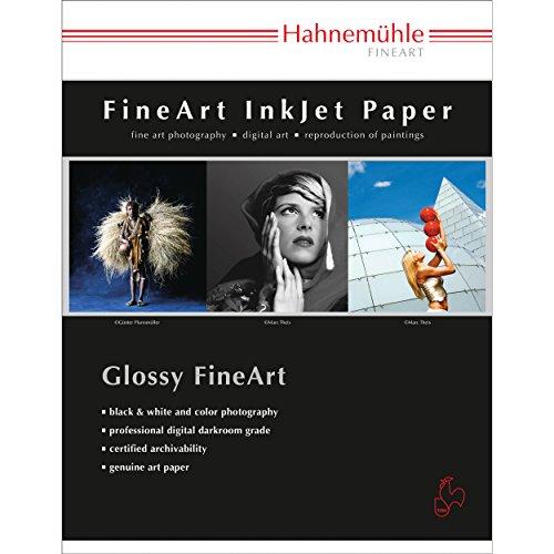 Hahnemuhle Satin Photo Rag, 100% Rag, Fine Lustre Bright White Inkjet Paper, 310 GSM, 8.5x11', 25 Sheets