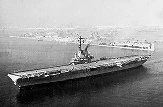 Home Comforts The U.S. Navy Aircraft Carrier USS Bennington (CVS-20) Leaving Long Beach, California (USA), on 10 O Vivid Imagery Laminated Poster Print 24 x 36