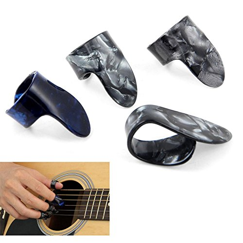 Daumen Finger Gitarre Plektren Dicke Celluloid-Plektrum Am besten für Fingerstyle-Akustikgitarre, Banjo oder Ukulele