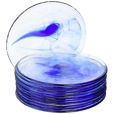 Bormioli Rocco Murano Cobalt Blue Dinner Plates, Set of 12