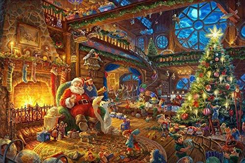 1000 houten puzzel klassieke creatieve ouder-kind spel interieurdecoratie,Het lezen van de krant bij The Fire Diy And
