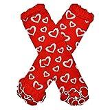 Infant Baby Girl Leg Warmers Toddler Girls Valentine's Day Ruffled Heart Leg Warmers Socks Outfit...