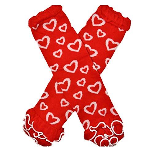 Infant Baby Girl Leg Warmers Toddler Girls Valentine's Day Ruffled Heart...