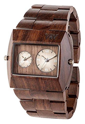 WeWOOD reloj madera/madera Jupiter RS Chocolate doble tiempo 9818101de los hombres relojes