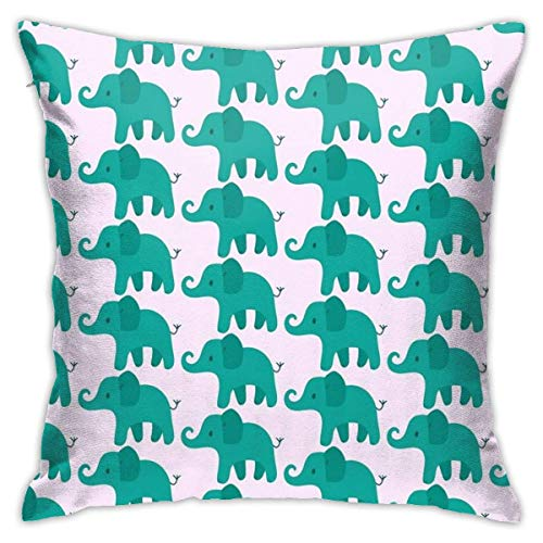 XCNGG Funda de almohadaBlue and Green Abstract Bedroom Throw Pillow Covers Home Decorative Couch Sofa Square Pillow Case 18x18 in