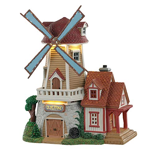 Lemax+05637+Olde+Stone+Mill+Village+Building%2c+Multicolored