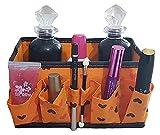 Lovelegis Estuche de Belleza para Mujer - Caja de cosméticos - Maquillaje - Abierto - Compartimentos - organizar Accesorios - baño - Dormitorio - Naranja - Idea de Regalo de cumpleaños