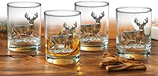Whitetail Deer Double Old Fashioned Glasses by Rosemary Millette